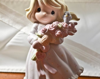 Precious Moments ceramic figurine, 1991, You are My Happiness, collectible figurine, 526185