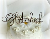 Rustic Wedding Cake Topper, HItched