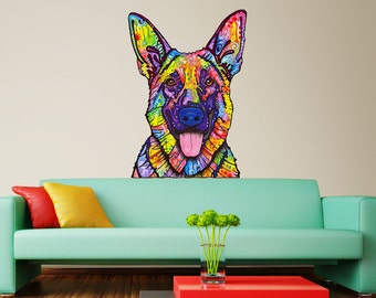 German Shepherd Dog Wall Sticker Cut Out - Dean Russo Pop Art