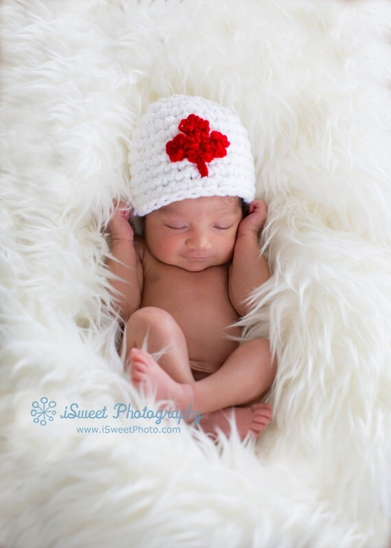 Items Similar To Canadian Flag Beanie Baby Newborn