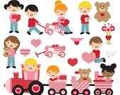 valentine's day valentines clipart clip art - Be My Valentine Digital Clip Art