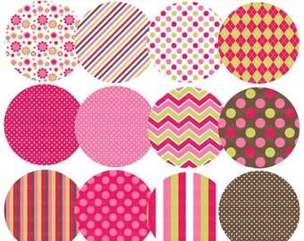 digital circles patterned pattern - Lovely Ladybugs Patterned Circles