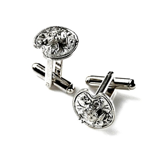 Frog on a Lily Pad Cufflinks - Gifts for Men - Anniversary Gift - Handmade - Gift Box Included