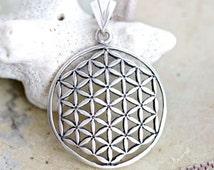 Celtic Medallion Necklace - Sterling Silver Filigree - Stamped 925
