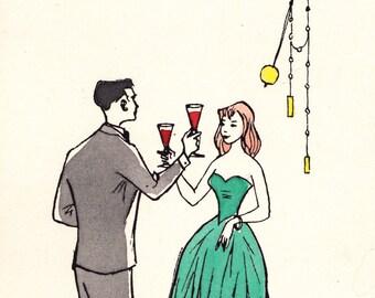 "Vintage ""Happy New Year"" Postcard - 1962"