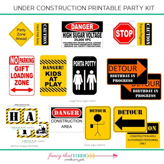 This is an image of Bright Party Signs Printable