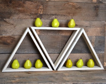 Geometric Triangle Shelf - Wall Shelf - Floating Shelf - Shelves