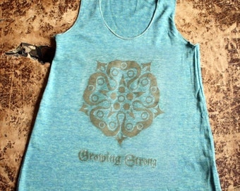 Game of Thrones // Tyrell Rose Racerback Tank // Growing Strong