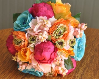 Wedding Flowers Wedding Bouquet Keepsake Bouquet Tropical Bridal Bouquet Colorful Wedding