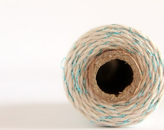12 PLY Blue Shimmer Baker's Twine; Cotton Twine