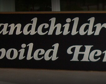 Wood grandchildren sign. Hand painted wood sign