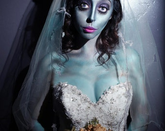 The Corpse Bride Flower Crown Halloween Tim Burton Cosplay Costume haunted ghost crown