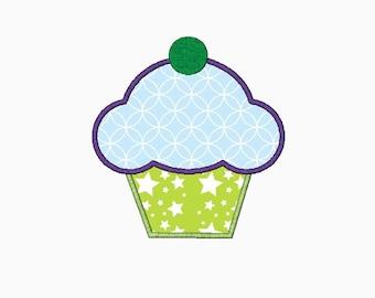 Cupcake Applique in multi-size.  INSTANT DOWNLOAD machine embroidery design