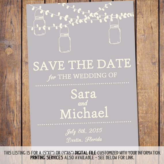 diy save the date magnets template - mason jar save the date 5x7 save the date template diy
