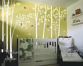 forest wall decals birch tree wall decal birds wall mural nursery wall sticker baby room wall decals living room decal- Birds in the Forest