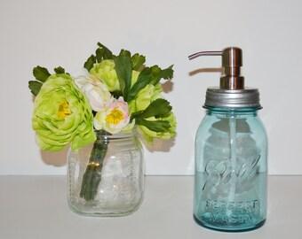 Mason Jar Soap Dispenser Vintage Blue Ball Perfect Mason Jar Soap Pump Vintage Blue Ball Mason Jar Brushed Stainless Soap Pump