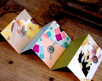 Vintage Quilt Cards, Patchwork Fabric Gift Tags, Prim Old Cutter Quilt Top Hang Tags, Place Setting Cards, Set of 3 itsyourcountry