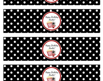 Movie Themed Printable Water Bottle Labels