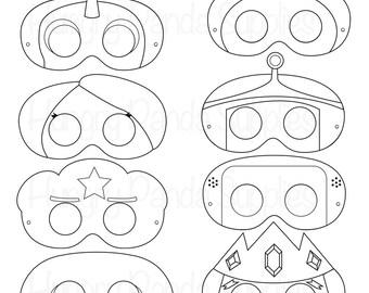 Adventurer Printable Coloring Masks Princess King Unicorn Dog Mask