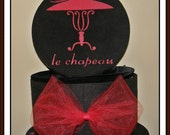 Hat Boxes Red & Black Hand Painted Red Hat Society Will Love These Choose From 5 Sizes LOW Shipping USA