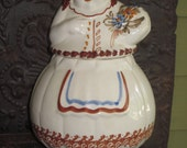 Cookie Jar Woman with Flowers