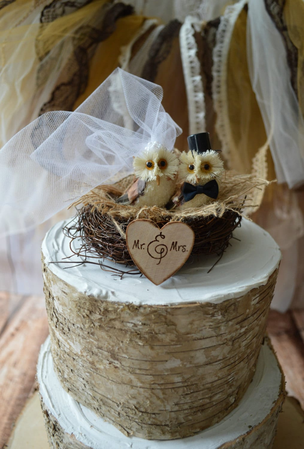 barn wedding cake topper country woodland snow barn rustic wedding owls wedding cake 11084