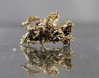 Display Mineral Gold Natural Wire Crystalized Gold Mineral Specimen from Nevada Macro Unusual Collectible Gold DanPickedMinerals