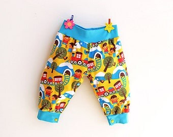 CHOOCHOO Baby Boy Girl Harem Pants pattern Pdf sewing pattern, Leg Opening with Poppers, Jersey Baby Harem Pants, Toddler newborn up to 2yrs
