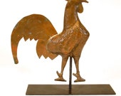 French Country Copper Rooster Weathervane Sculpture
