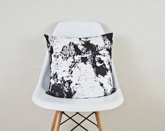 Birch Bark Pillow Cover