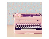 Pink Royal, Digital Download, typewriter photograph, Printable, magnets, gift tags, vintage collage, card making, scrapbooking idea