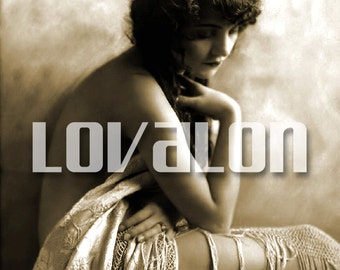 MATURE... Le Matin... Instant Digital Download... 1920's Vintage Nude Glamour Fashion Photo by Lovalon