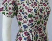 Super 1940's Novelty Print Dress