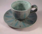 Red Wing Pottery Contemporary line Spruce cup & saucer