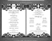 Printable Wedding Programs - Damask, Lace, Vintage - Damascus Collection