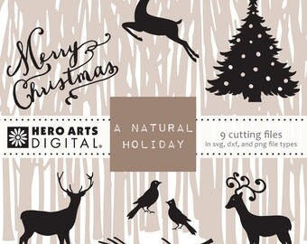 Instant Download Hero Arts A Natural Christmas Digital Cut File