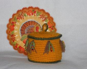 Crochet Corn Tassel Basket