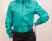 MEMBERS ONLY for the ladies / teal green vintage jacket small ladies women's coat / aqua / seafoam / green-blue jacket