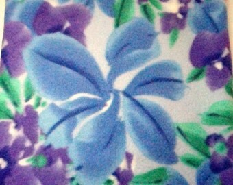 Heating Pad Cover Lavender and Blue Floral Print Fleece