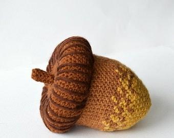 Acorn Crochet Pattern, Crochet Acorn Nut Pattern, Harvest Crochet Pattern, Autumn Crochet Pattern, Oak Nut Crochet Pattern, Crochet Oak Nut