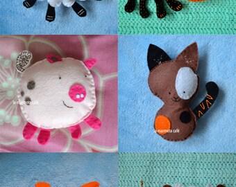 Custom felt baby toy / stuffed animal