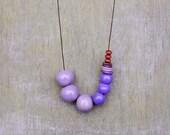 Purple Necklace,Ceramic Purple Necklace