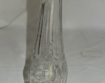 Old Glass Bottle Sprague Warner Catsup Bottle Vintage Hand Dug Bottle Clear Glass Collectible Antique Bottle