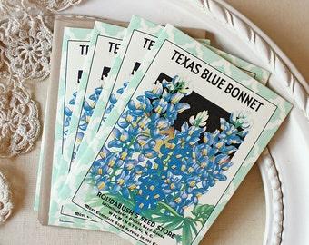 Texas Bluebonnet Seedpack note cards Wildflowers