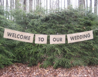 Rustic Wedding, Burlap Banner, Welcome To Our Wedding Sign, Burlap Wedding, Wedding Banner, Burlap Sign, Your Divine Affair