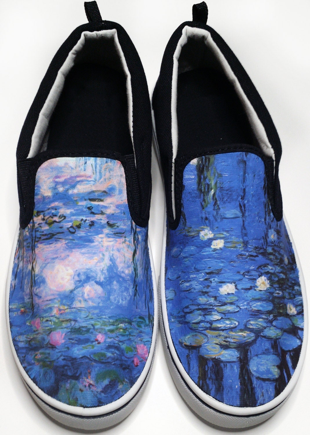 custom vans brand monet water lilies canvas shoes