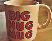 Vintage 80's FTD Big Hug Mug- True Detective, Authentic
