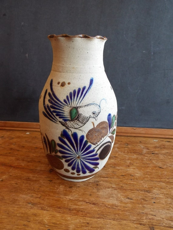 Vintage Mexican Pottery Vase by theravenandrose on Etsy