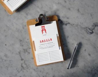 Red Letterpress Perpetual Calendar — Holiday, Birthday, Anniversary