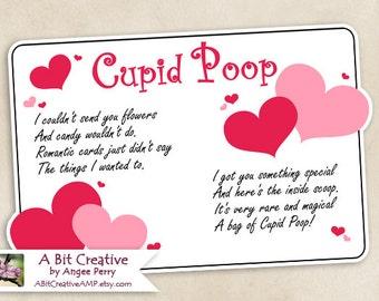 Cupid Poop Valentines Day Sweetheart Gag Gift  Design - DIY Printable